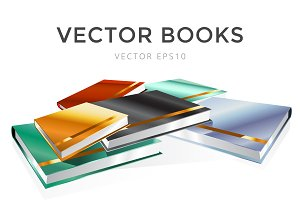 Book 3d vector set