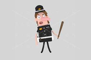 3d illustration. Police.