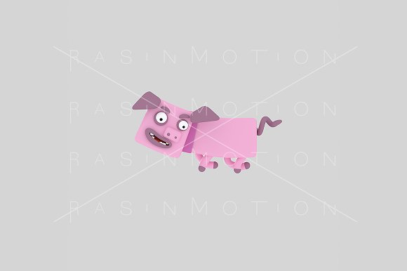 3d illustration. Pig. - Illustrations