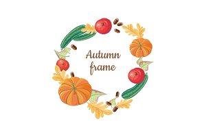 Autumn Frame. Fall Fruits