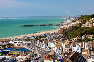 Hastings England from above
