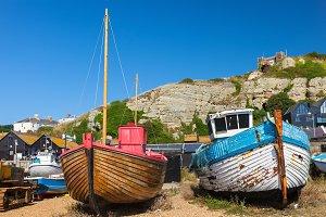 Boats at Hastings England