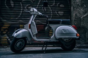 White Scooter