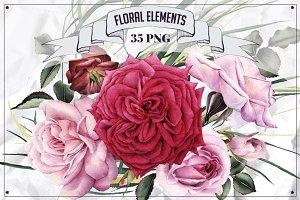 35 Floral Elements