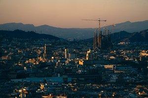 Sagrada Família During Sunset