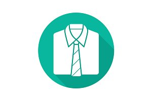 Shirt and tie icon. Vector
