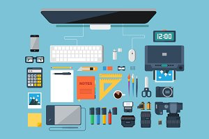 Graphic designer tools.