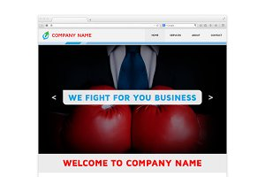Muse One Page Web Corporate Template