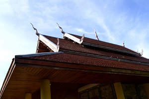 Roof of old temple