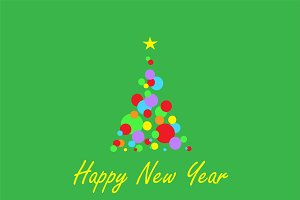 Happy New Year green