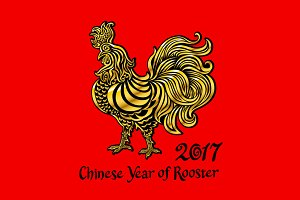 Rooster, Chinese zodiac symbol 2017