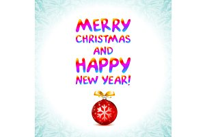 mery christmas happy new year vector