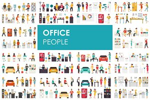 Office - flat people set