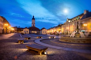 Bialystok at night, Podlachia, PL