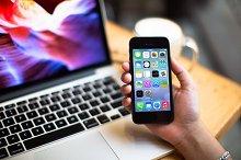 iPhone5 Template, Laptop3 (S)