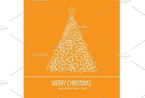 Christmas tree with stars orange