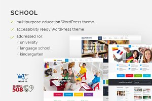 School WordPress Theme - WCAG ready