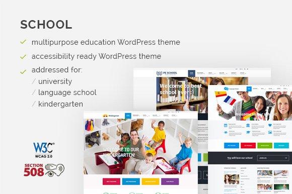 School WordPress Theme - WCAG ready