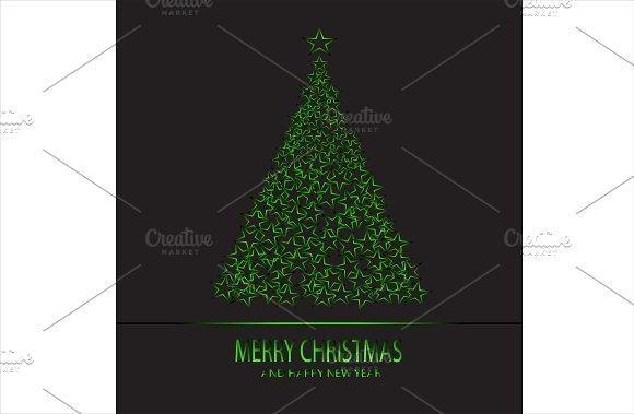 Merry Christmas green tree neon