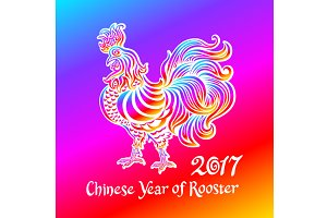 Rainbow rooster symbol 2017