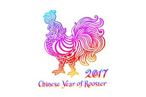 Rainbow Rooster. chinese zodiac 2017
