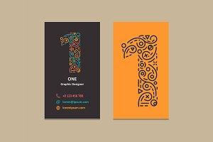 Number 1 Logo Business card