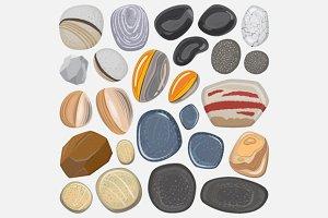 Vector river stones