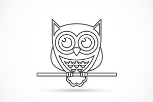 Owl outline icon