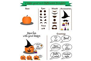 halloween pumpkin kit constructor