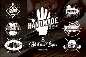 8 Hand Made Labels and Logos