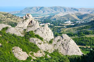 Summer misty mountain, Crimea