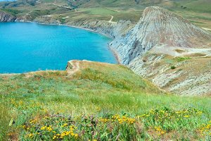 Summer rocky Crimea coastline