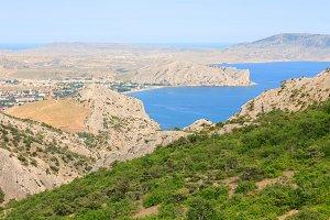 Sudak town coastline, Crimea