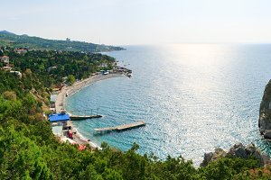 Simeiz town coastline, Crimea.