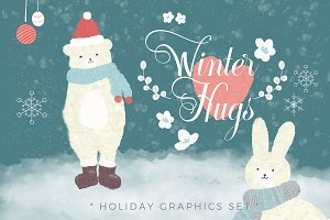 Winter Hugs - Holiday Graphics Set