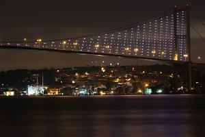 bosphorus night landscape