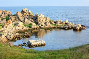 Summer Crimea sea coastline