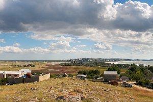 Summer Crimea sea coastline