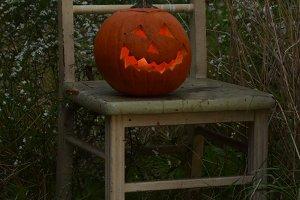 Carved Halloween Jackolantern