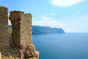 Old Genoese fortress ruines, Crimea