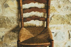Old rustic chair