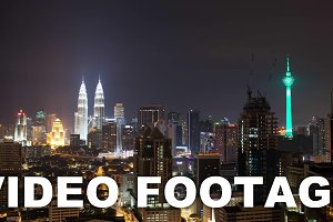 Timelapse of night Kuala Lumpur