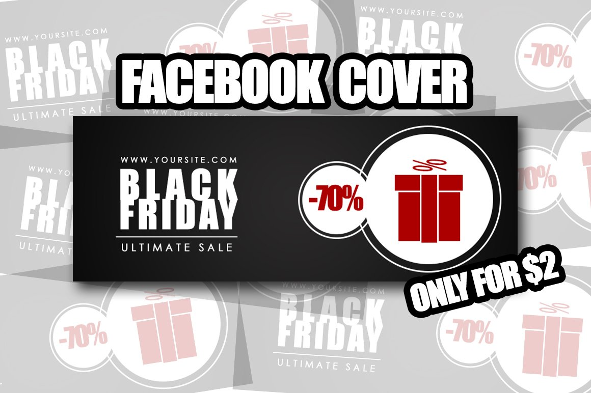 Black Friday Facebook Cover Web Elements Creative Market