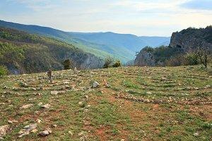 Crimea mountain summer view