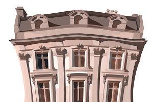 Three-storey vintage house