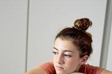 Thoughtful teenager