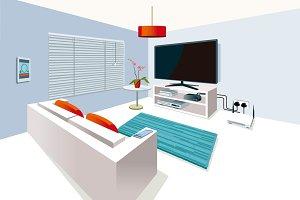 Living Room in Smart Home