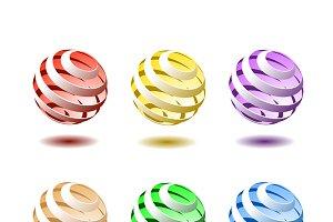 Vector spiral balls.