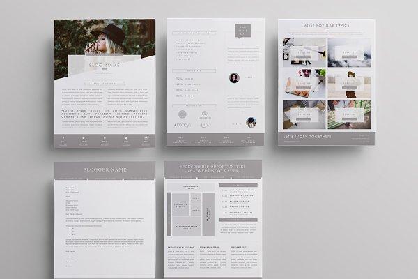 Blog Media Kit + Sponsorship | 5 Pg…