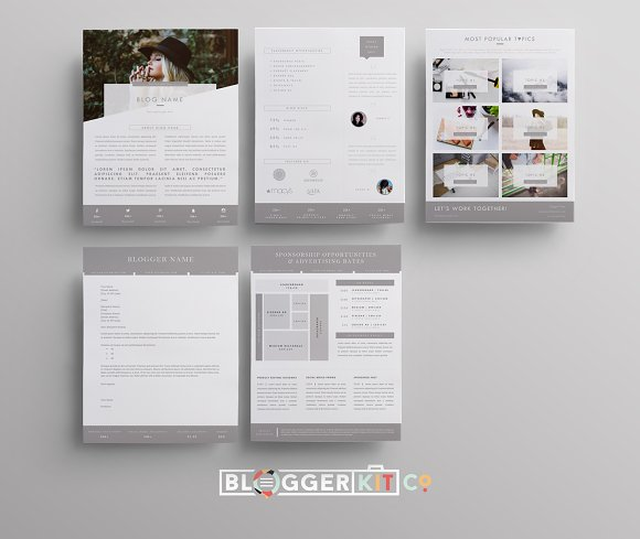 blog media kit sponsorship 5 pgs resume templates creative